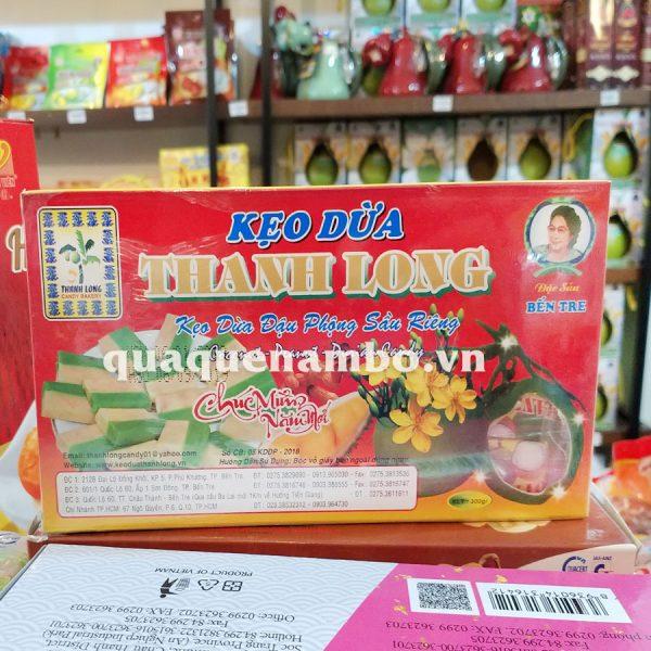 Kẹo dừa đậu phộng sầu riêng thanh long 300g