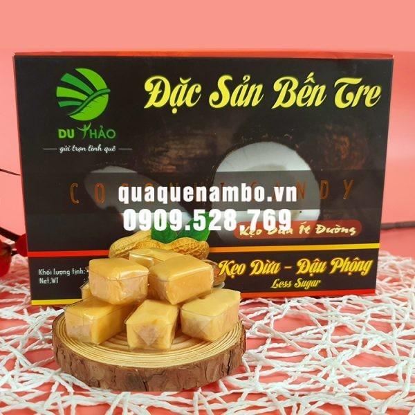 Kẹo dừa Bến Tre đậu phộng Du Thảo 400g