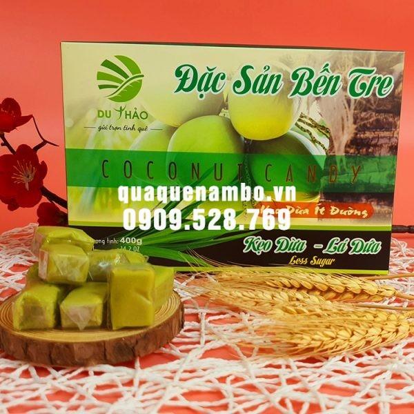 Kẹo dừa Bến Tre lá dứa Du Thảo 400g